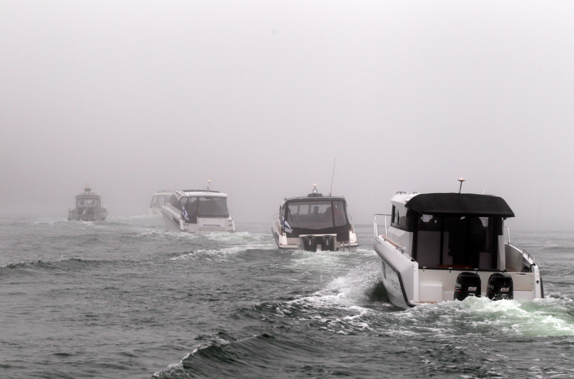 Fog at Finnboat Floating Show. Photo: Kari Wilen