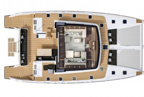 Lagoon 630 MY deck plan