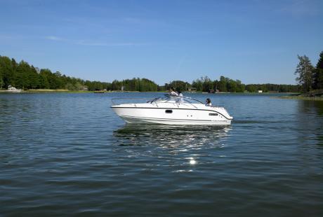 Aquador 25 DC avovene/day cruiser/päivävene/retkivene/moottorivene/lasikuituvene